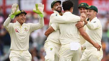 Australian Men's Test team celebrating a wicket , Getty Images