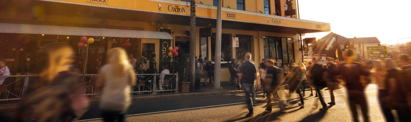 Caxton Street on game day