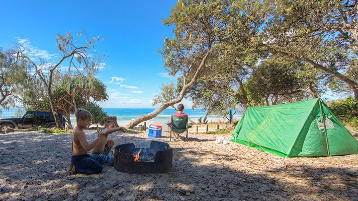 Poverty Point Camping Bribie Island