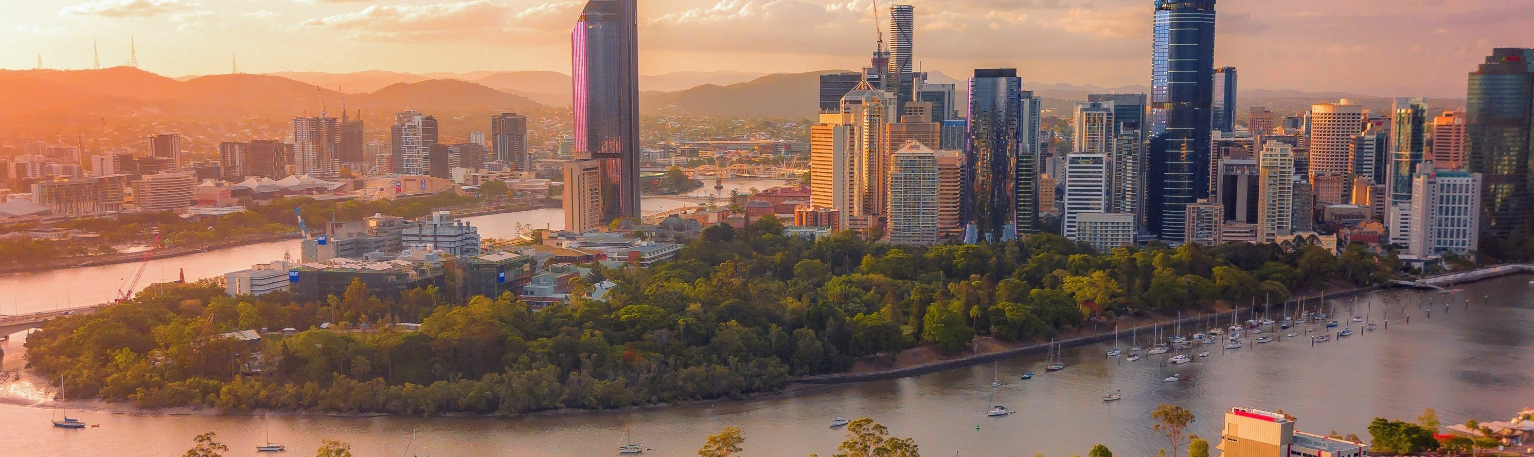 Brisbane City Skyline